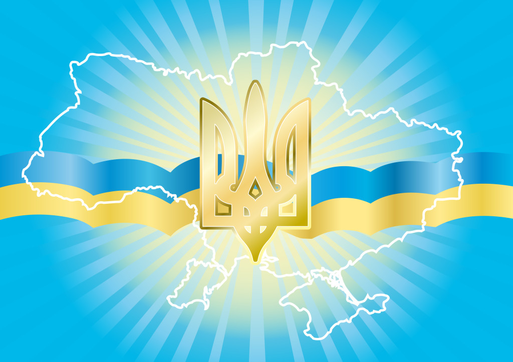 Background to congratulating on the day of independence of Ukraine
